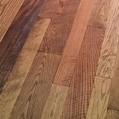 Close-up of Circle Sawn Oak Flooring