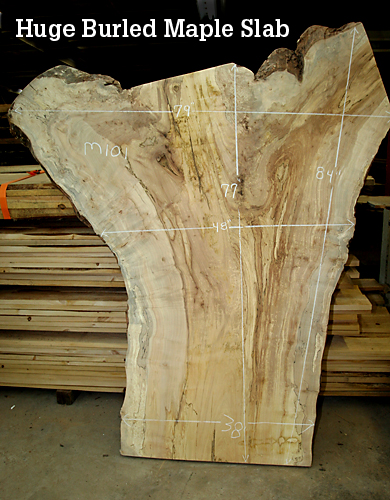 Hugh Burled Maple Slab