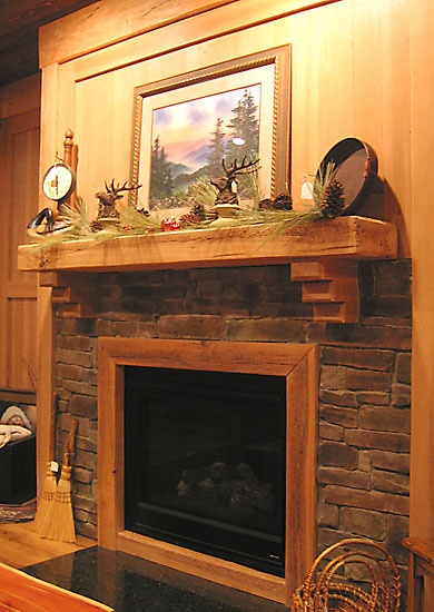 Everhart Lumber Company has established numerous wood product sources ideal for making mantels for rustic
